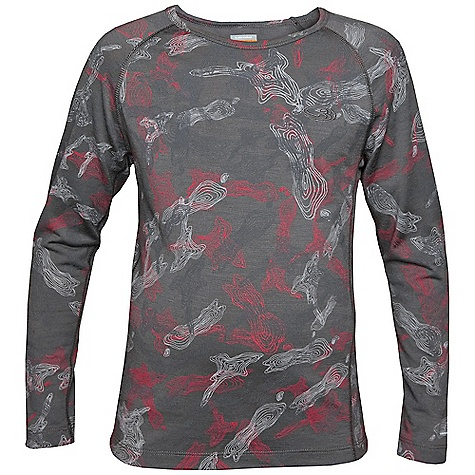 photo: Icebreaker Kids' L/S Crewe Print base layer top
