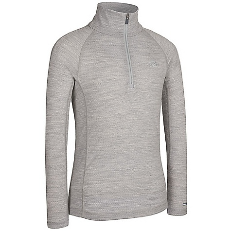 photo: Icebreaker Girls' 200 Lightweight Mondo Zip base layer top