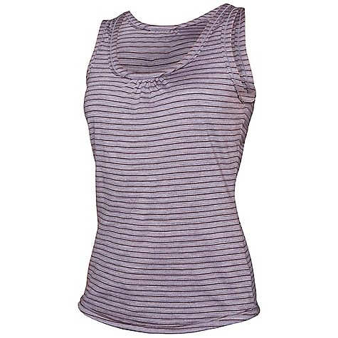 photo: Icebreaker Stripe Retreat Tank short sleeve performance top