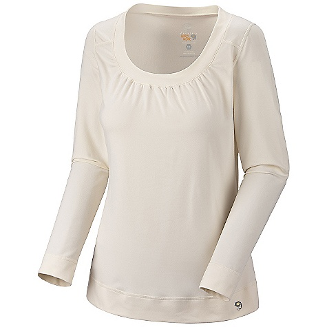 Mountain Hardwear Gathered In Butter L/S Top