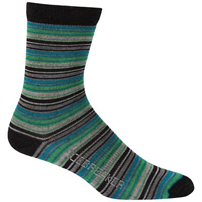 Icebreaker Women's City Ultralite Stripetease 3/4 Crew Sock