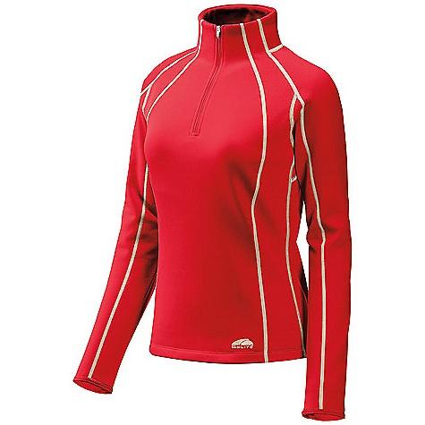 photo: GoLite Women's Vermillion Thermal 1/3-Zip Top fleece top