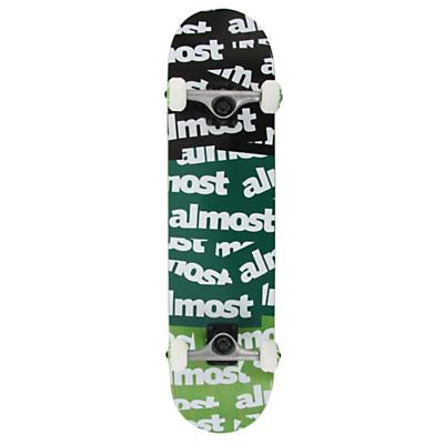 Almost Plastered TT Skateboard Complete Black/Teal/