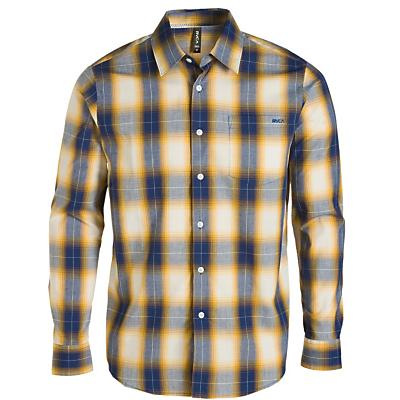 RVCA Men's Woody Plaid Long Sleeve Top