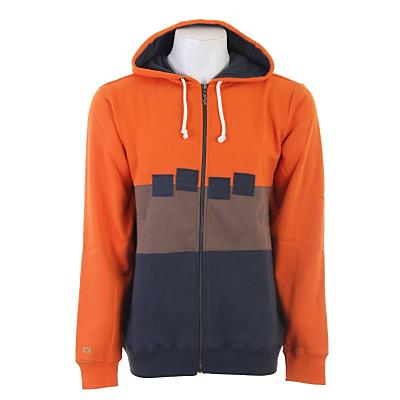 Foursquare Straight Stripe Fullzip Hoodie - Men's
