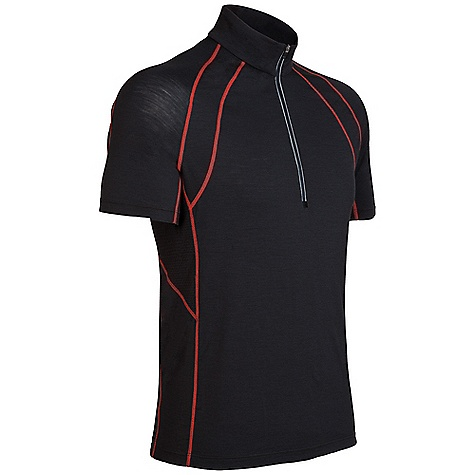 photo: Icebreaker SS Quest Zip short sleeve performance top