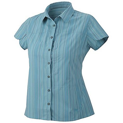 photo: Mountain Hardwear Trailend Stripe Short Sleeve Shirt hiking shirt
