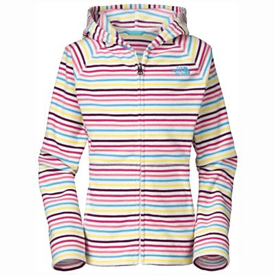 The North Face Girls' Striped Glacier Full Zip Hoodie