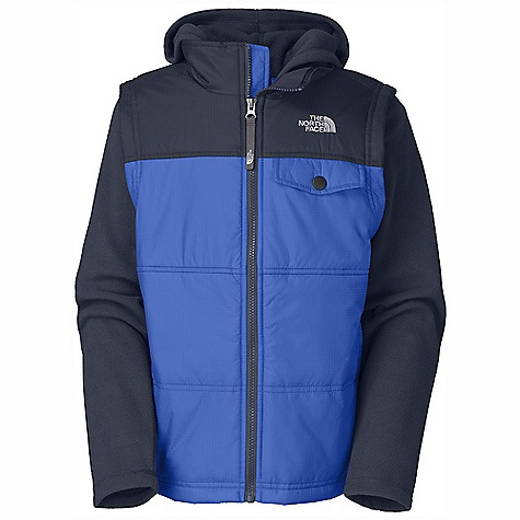 photo: The North Face Boys' Vesty Vest Fleece Hoodie synthetic insulated vest