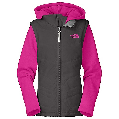 photo: The North Face Girls' Vesty Vest Fleece Hoodie synthetic insulated vest