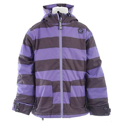 Sessions Evolve Heather Stripe Snowboard Jacket - Girl's