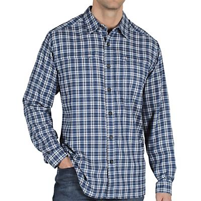 Ex Officio Men's Trailing Off Micro Plaid Flannel L/S
