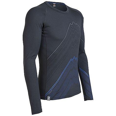 photo: Icebreaker BodyFit 200 L/S Oasis Crewe Printed base layer top