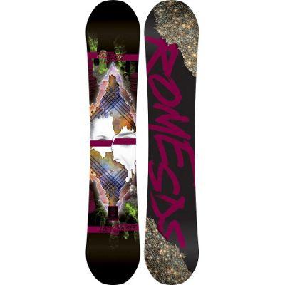 Rome Lo-Fi Rocker Mountain Pop Snowboard 154 - Women's
