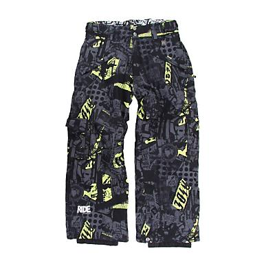 Ride Charger Snowboard Pants Ruckus Print Viv Green - Kid's