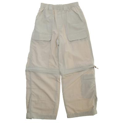 White Sierra Trail Convertible Pants - Kid's