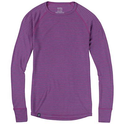 Ibex Women's Woolies 150 Crew Stripe Top