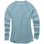 Ibex Women's Woolies Crew Stripe Top