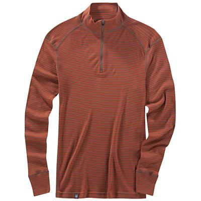 Ibex Men's Woolies 150 Zip Tee Stripe Top