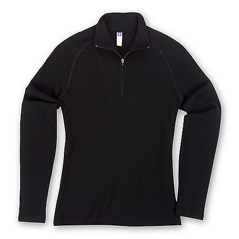 photo: Ibex Women's Zepher Zip T-Neck base layer top