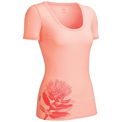 Icebreaker Women's Tech SS Scoop Top Pohutukawa
