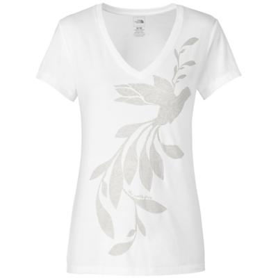 The North Face Women's S/S Janalee V-Neck Burn Out Tee
