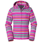 The North Face Girls' Glacier Striped Full Zip Hoodie