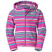 The North Face Toddler Girls' Striped Glacier Full Zip Hoodie