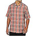Ex Officio Men's Now Boarding Plaid S/S Top