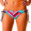 Roxy Women's Wave Peak 70s Lowrider Tie Side Bikini Bottom