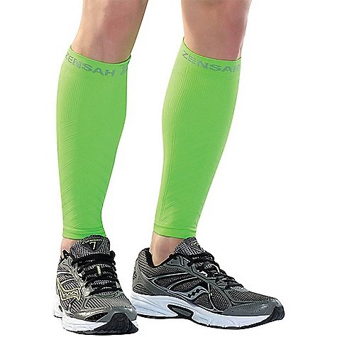 Zensah Compression Leg Sleeve Neon Green