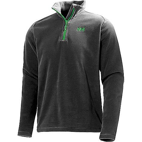 Helly Hansen Men's Daybreaker 1/2 Zip Fleece Top Ebony / Green Logo