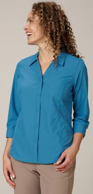 Royal Robbins Women's Lt Expedition 3/4 Sleeve Top