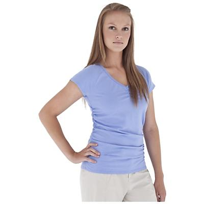 Royal Robbins Women's Essential Ruched S/S V-Neck Top