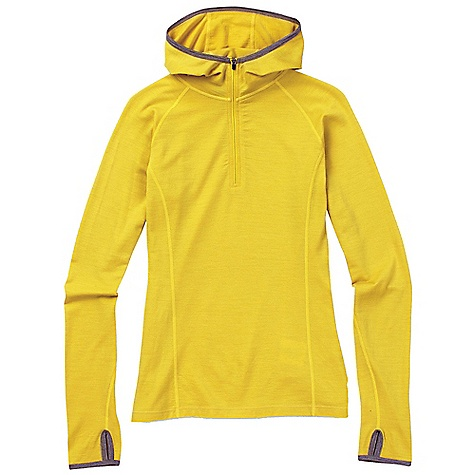 photo: Ibex Women's Hooded Indie long sleeve performance top