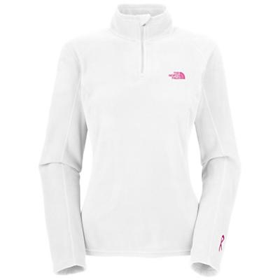 The North Face Women's Pink Ribbon TKA 100 Microvelour 1/4 Zip