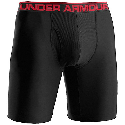 "Under Armour Men's The Original Boxerjock 9"""" Extended Brief Black / Red"