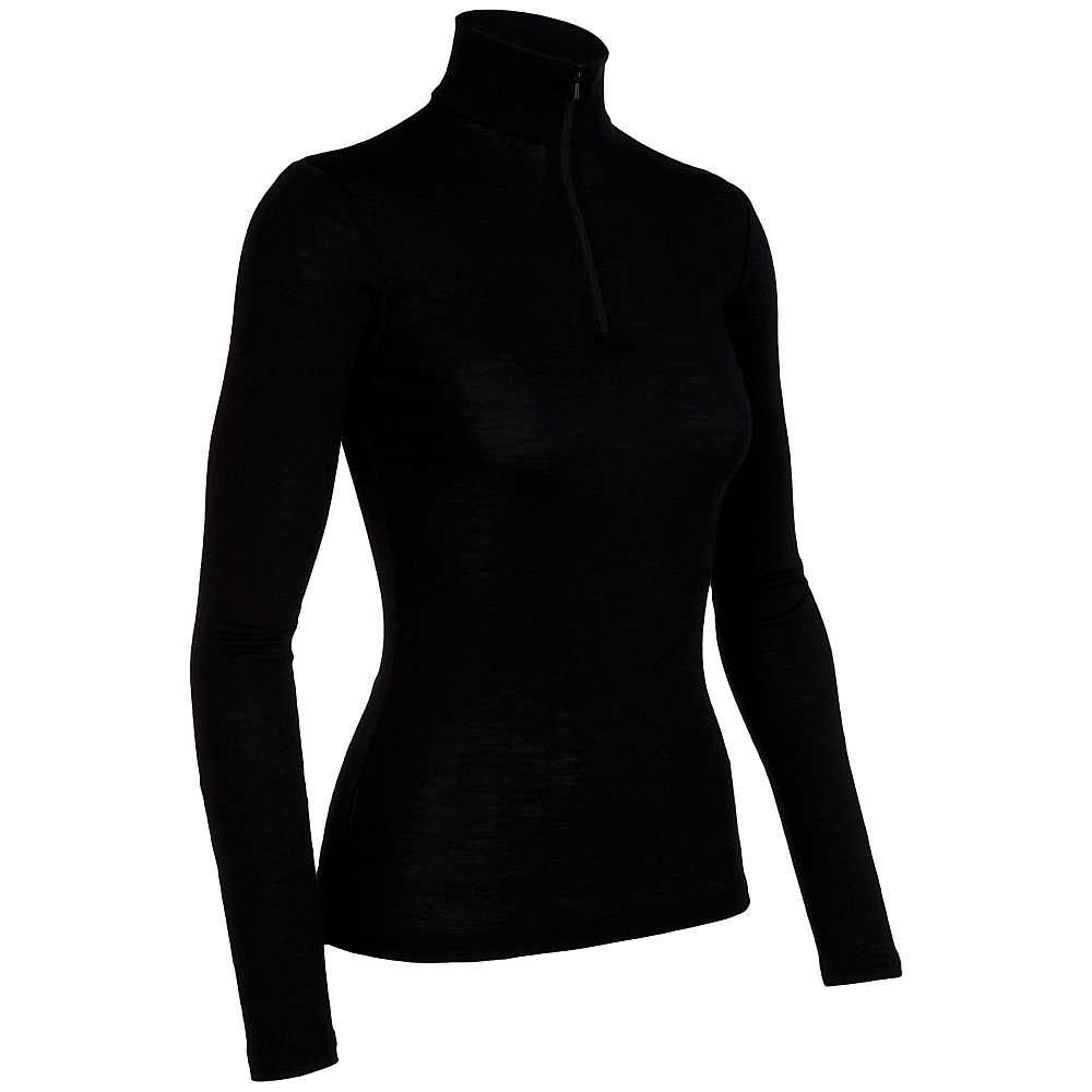 Icebreaker Women's Everyday LS Half Zip - Large - Black