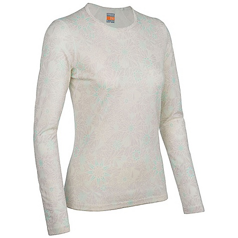 Icebreaker Oasis Long Sleeve Crewe Quartz