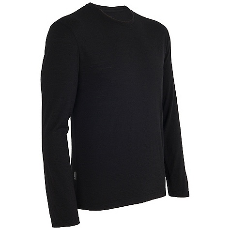 Icebreaker Men's Tech Lite LS Crewe Black