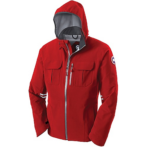 Canada Goose Men's Moraine Shell Jacket Red / Mid Grey