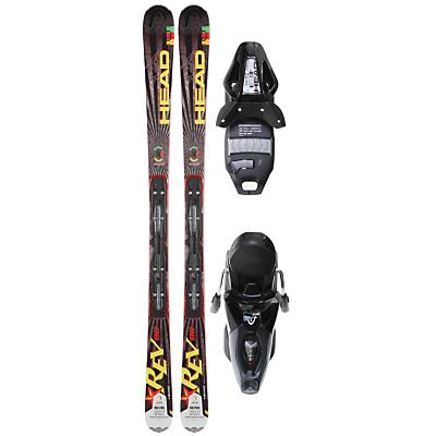 Head Rev 80 Skis w/ Pr 11 Bindings Glossy/Silver - Men's