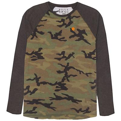 Billabong Men's Camo LS Raglan