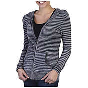 ExOfficio Women's Irresistible Dolce Stripe Long Sleeve Zip Hoody