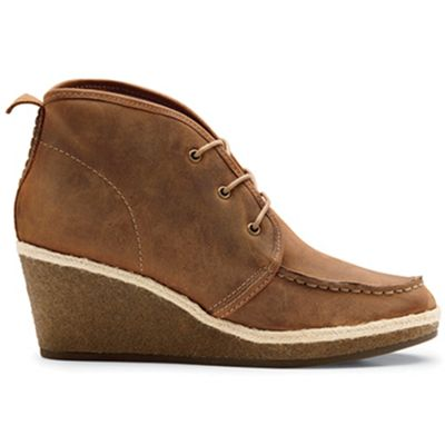 OluKai Women's Wali Wedge Leather Shoe