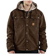 Carhartt Men's Sandstone Hooded Multi-Pocket Jacket