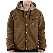 Carhartt Men's Sandstone Hooded Multi-Pocket Jacket