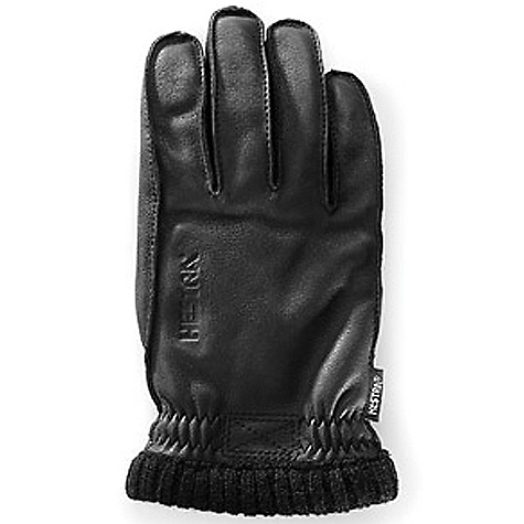 Hestra Men's Deerskin Primaloft Ribbed Glove Black