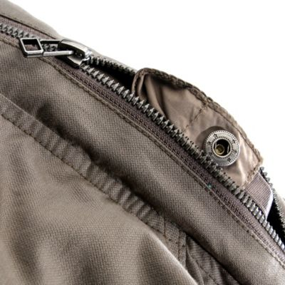 Topped on front cargo pockets with hidden snap pocket flap closure