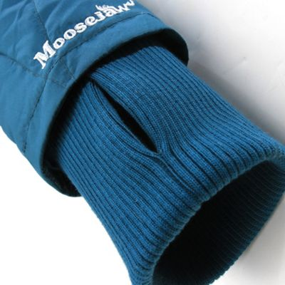 Rib knit interior comfort cuffs with thumb hole